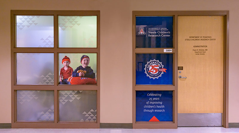 Administrative suite entry graphics